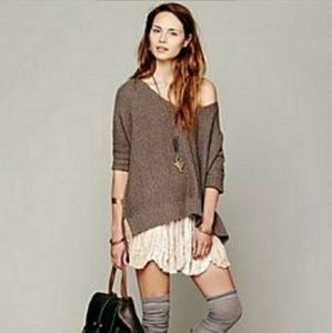 FREE PEOPLE Slouchy Chunky Nubby Knit Sweater S